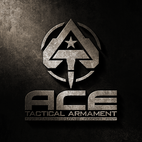 Antivirus logo with the title 'Logo design for Ace Tactical Armement'