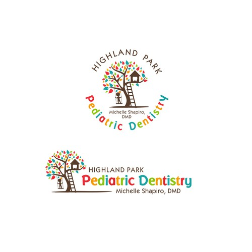 Pediatric design with the title 'higland Park  Pediatric Dentistry'
