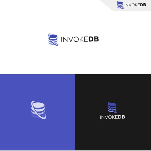 Favicon design with the title 'Invoke db logo design'