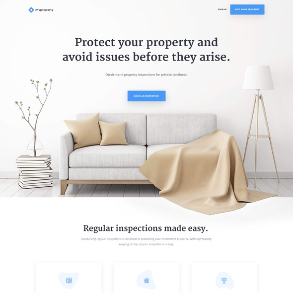 Property website with the title 'MyProperty - Property Rental Website'