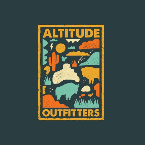 American t-shirt with the title 'Altitude Outfitters T-Shirt'