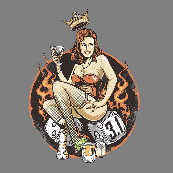 Tattoo t-shirt with the title '3.1 Pinup'