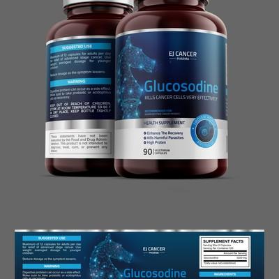 Medicine Pill Bottle Label Design