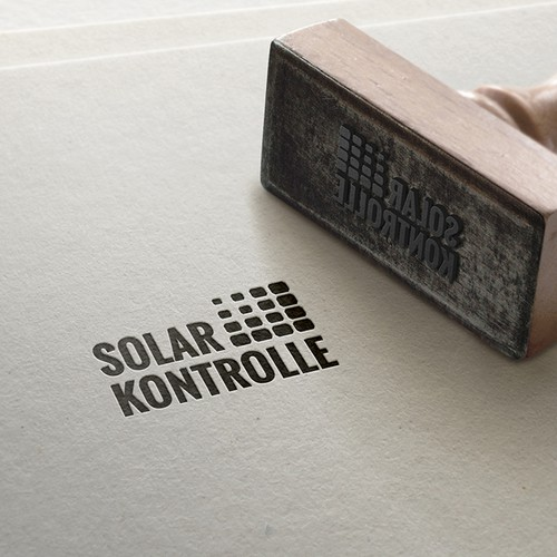 Solar company logo with the title 'Solar Kontrolle'