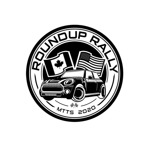 Rally logo with the title 'ROUNDUP RALLY v.2'