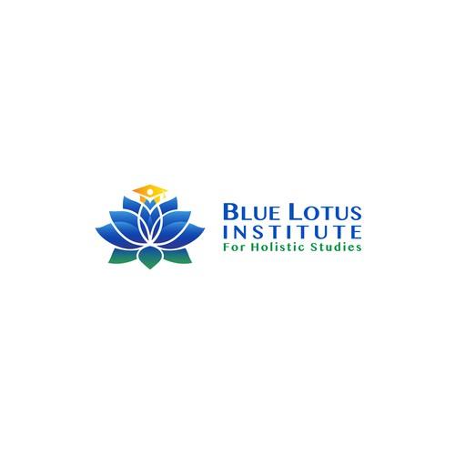 Lotus design with the title 'Blue Lotus Institute'