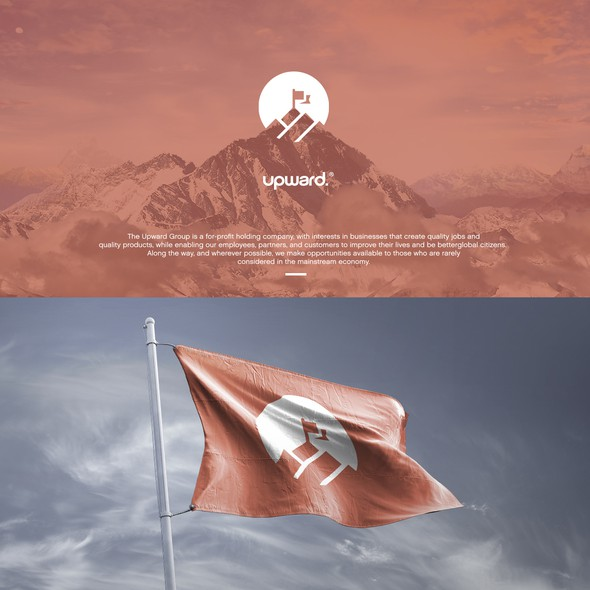 Flag design with the title 'Logo for socially minded multi brand company'