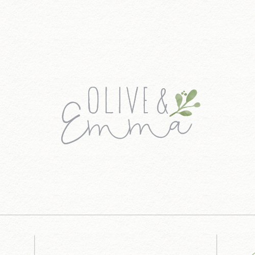 Boutique logo with the title 'olive & emma'