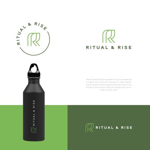 Premium logo with the title 'RITUAL & RISE'