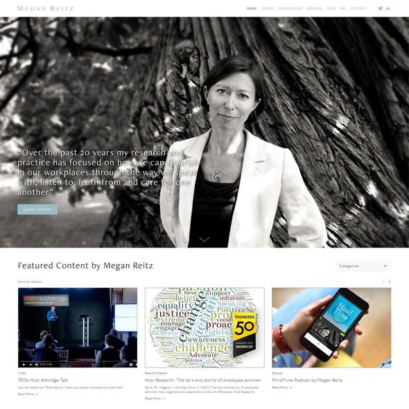 Leadership design with the title 'MeganReitz.com'