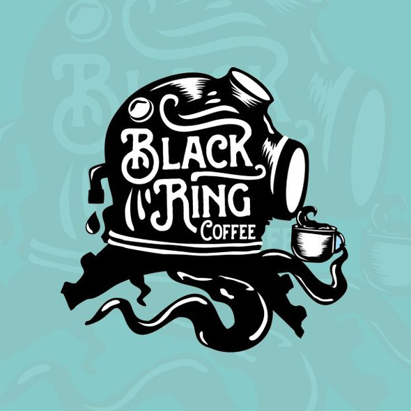 Coffee shop logo with the title 'Hip / urban logo for coffee roasting company'