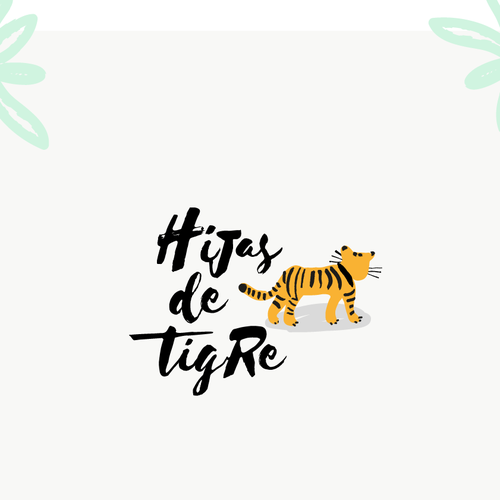 Tiger design with the title 'Hipster logo for Hijas de Tigre, a mexican gift shop'