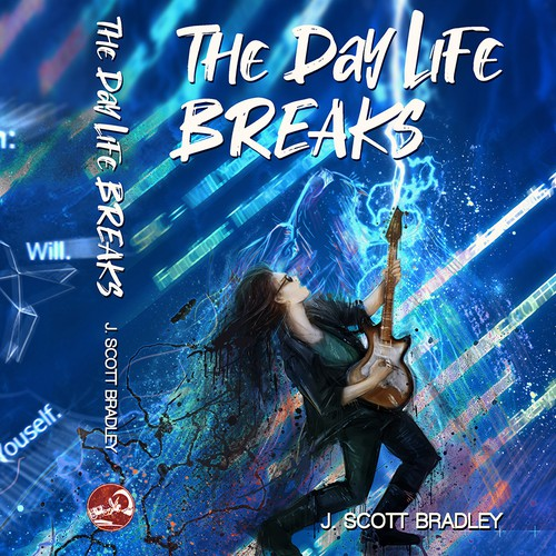 Lion artwork with the title 'The Day Life Breaks '