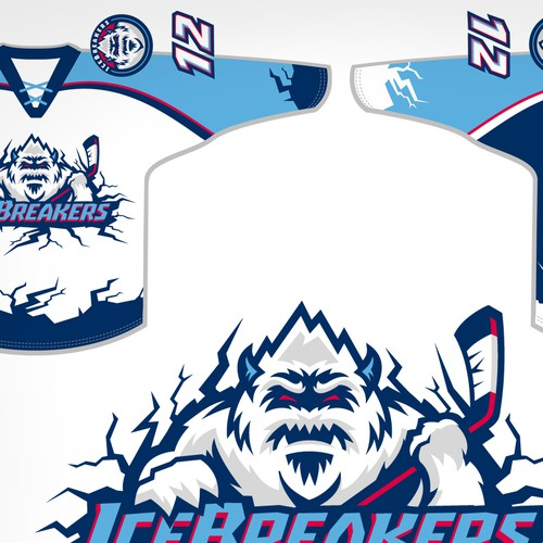 Hockey design with the title 'ICE  BREAKERS'