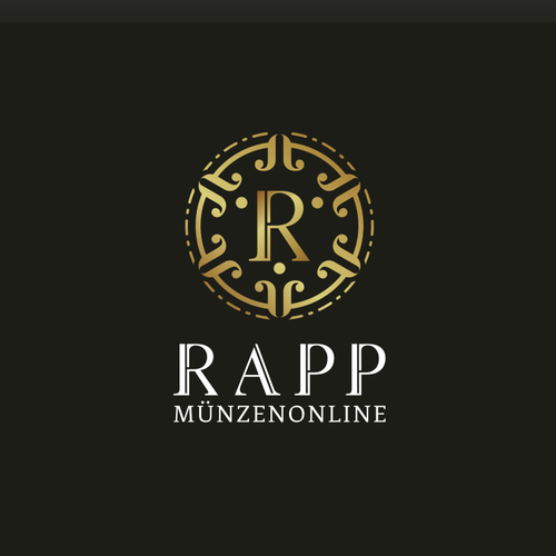 Medal logo with the title 'Logo Design for Rapp auction house'