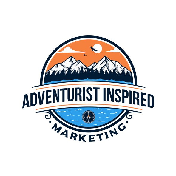 Forest design with the title 'Adventurist Inspired Marketing'