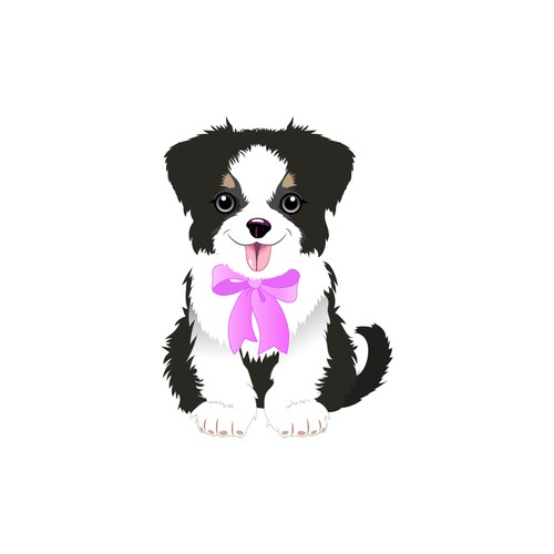 Puppy artwork with the title 'soft toy design'