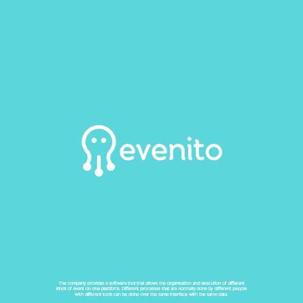 Event brand with the title 'evenito - logo design'