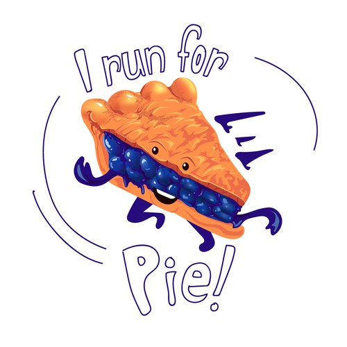 Pie design with the title 'I run for Pie! Design Concept'