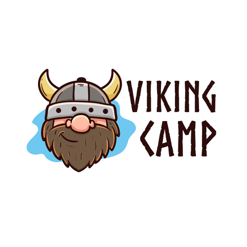 Guardian logo with the title 'Viking Camp logo'