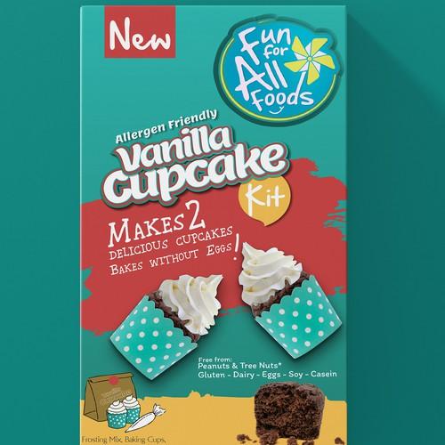 Vanilla design with the title 'cupcake'