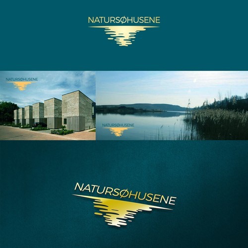 Lake design with the title 'NATURSØHUSENE'