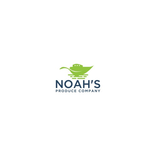 Produce logo with the title 'Noah's Produce Company Concept Logo'