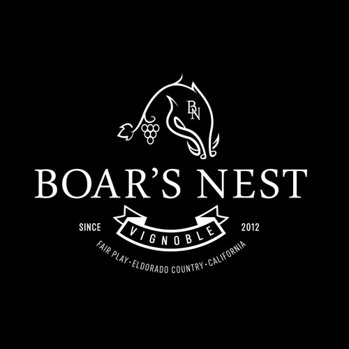 Vine logo with the title 'boar'