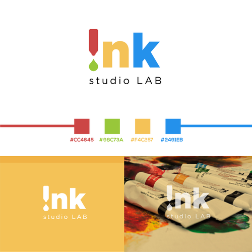 RGB design with the title 'ink studio LAB'