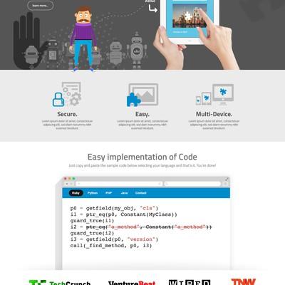 Creative website design for a online security