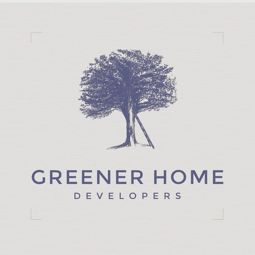 Classic brand with the title 'Hand drawn mark for a home-building construction firm'