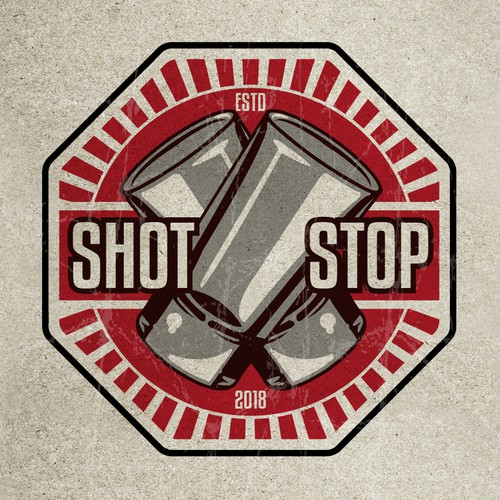 Ray design with the title 'Logo for Shot Bar'