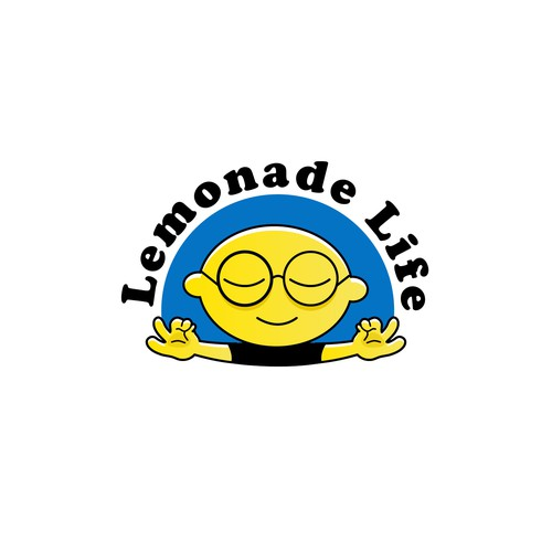 Peaceful logo with the title 'Logo entry for Online Therapy - Lemonade Life (For Sale)'