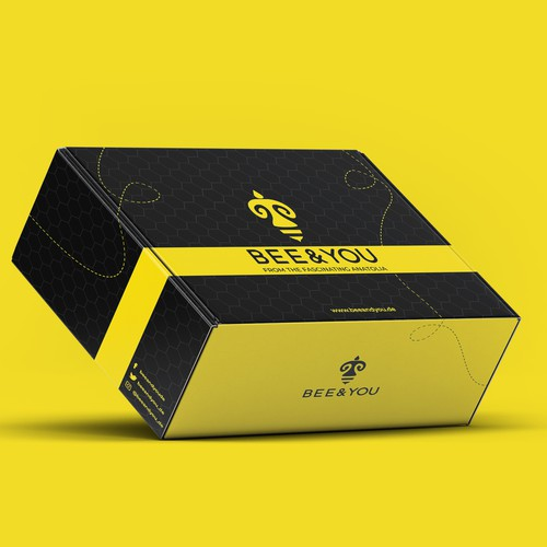 Retail box packaging with the title 'Bee & You'