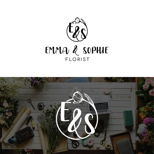 Tulip logo with the title 'Emma & Sophie Florist'