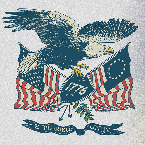 T-shirt with the title 'retro patriotic eagle'