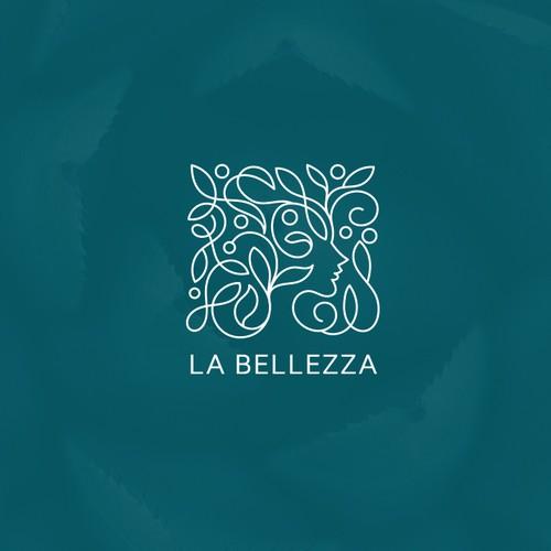 Line design with the title 'La Bellezza'