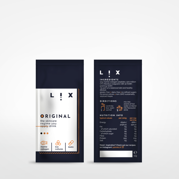 Skincare packaging with the title 'Packaging design for skincare regime'