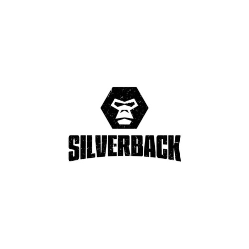 Gorilla logo with the title 'Logo Design for Silverback'