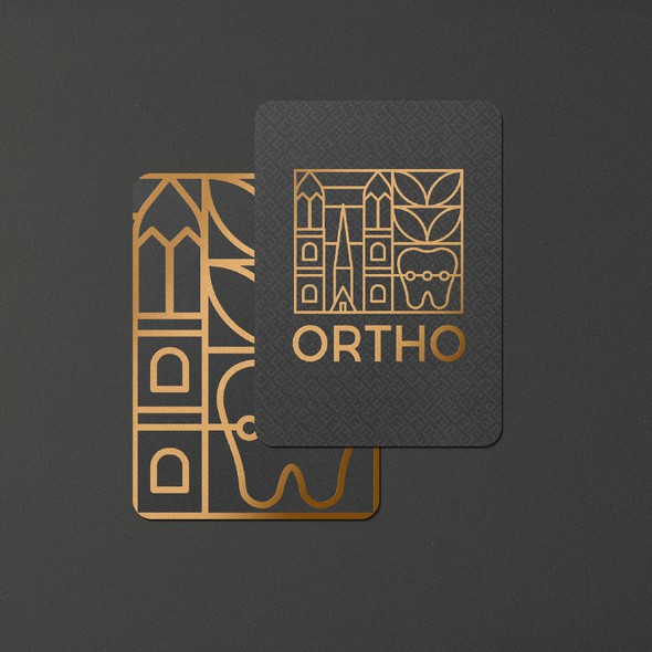 Orthodontic brand with the title 'Ortho logo'