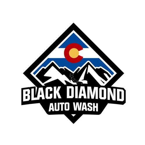 Automotive design with the title 'Car Wash Logo design'