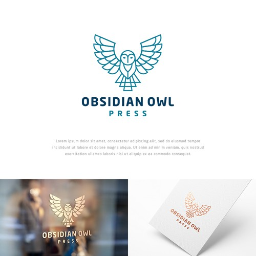 Publishing logo with the title 'Obsidian Owl Press'