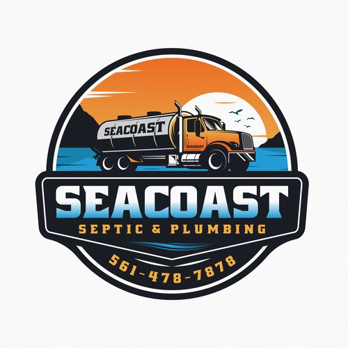 Florida logo with the title 'SEATCOAST Septic & Plumbing logo'