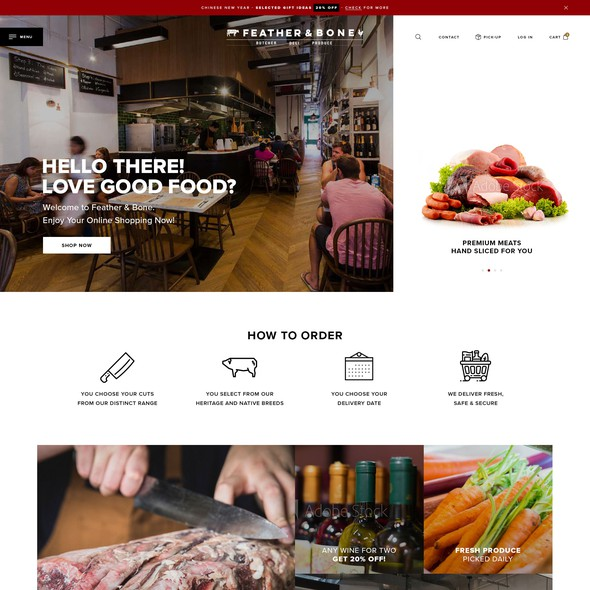 Full-screen website with the title 'eCommerce Store - fullscreen'