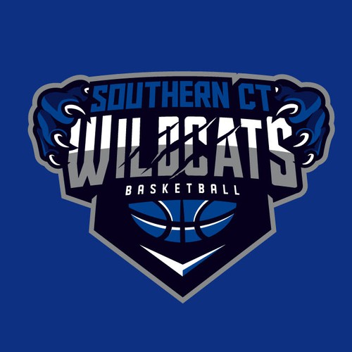 Sports apparel logo with the title 'Southern CT WildCats'