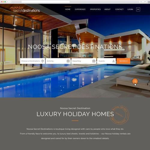 Destination design with the title 'Luxury Accomodation Website'