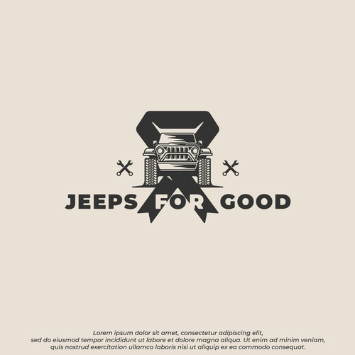 Young adult logo with the title 'JEEPS for GOOD'