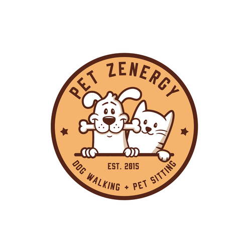 Dog and cat logo with the title 'Pet Zenergy logo'