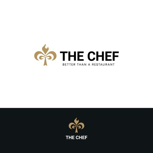 Clover design with the title 'Luxury Logo for The Chef'