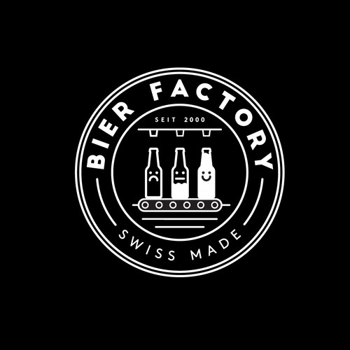 Swiss logo with the title 'Bier Factory'